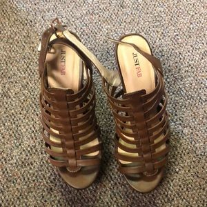Strappy sandals by JustFab.  Size 7 1/2